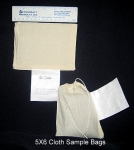 "Sample Bags, 5""x7"", Cotton, Printed Tag"