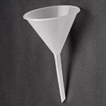 Funnel Poly, long stem, 55mm
