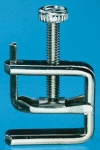 Rubber Tubing Clamp, Nickel-plated brass