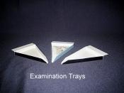 Tray, Examination, Triangular Shape