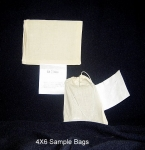 "Sample Bags, 4""x6"", Cotton, Blank Tag"