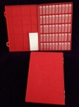 Tray, red, 2 dram Vials, Blank Labels
