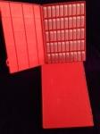 Tray, red, 2 dram Vials, no Labels