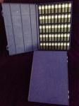 Tray, blue, 3 dram vials, Printed Labels