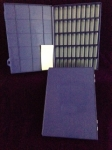 Tray, blue, 3 dram vials, Blank Labels