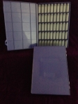 Tray, blue, 3 dram vials, no Labels