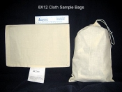 "Sample Bags, 8""x12"", Cotton, Blank Tag"